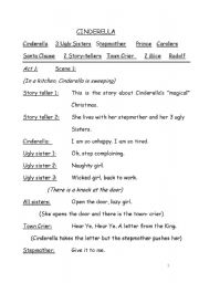 English Worksheet: Cinderella - A Christmas Story