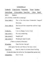 worksheet: Cinderella - A Christmas Story