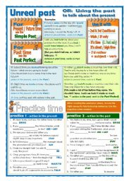 English Worksheet: Unreal past for present and past situations