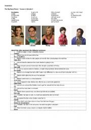 English Worksheet: Inversion exercise. Big Bang Theory
