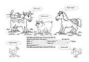 English Worksheets: Old MacDonald Had a Farm