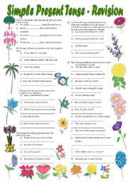 Simple Present Tense Exercises (Fully editable with Key)