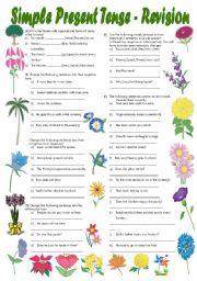 Printables Simple Present Tense Worksheets simple present tense exercises fully editable with key