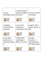 English Worksheets: Vocabulary Tic Tac Toe