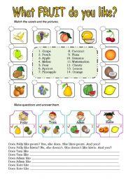 What fruit do you like?