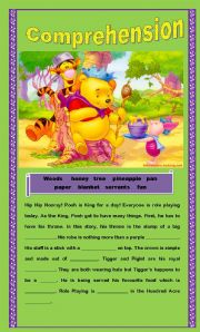English Worksheets: Comprehension - King for a Day