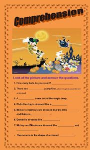 English Worksheets: Comprehension - Costumes on Parade