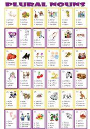 English Worksheet: Plural Nouns ( Multiple Choice )