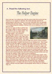 English Worksheets: The Helper Engine