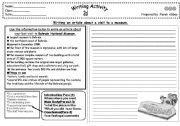 English Worksheet: a report about a visit to a museum
