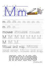 English Worksheets: Worksheets and reuploaded Learning Letters Mm and Nn: 8 worksheets
