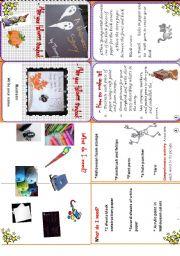 English Worksheet: Make your Halloween storybook (minibook)