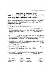 Ancient Aztec Facts, Worksheets & Historic Information For Kids