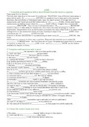 English Worksheet: Vocabulary.correcting mistakes.tenses