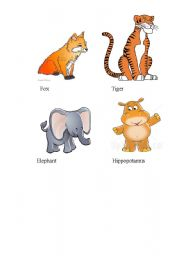 English Worksheets: Learning animals