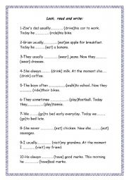 English Worksheets: ps & pc