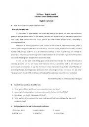 Worksheet on environment