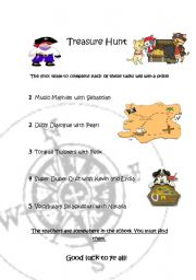 English Worksheets: Treasure Hunt!