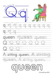 English Worksheets: Worksheets and reuploaded Learning Letters Qq and Rr: 8 worksheets