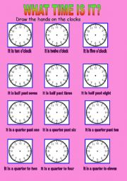 English worksheets the time worksheets page 83 telling the time ibookread PDF