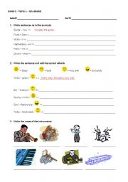 English worksheet: BUGS5 - MUSIC