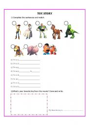 English Worksheet: Toys from the movie Toy Story