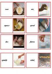 English Worksheet: domino cooking verbs part 2