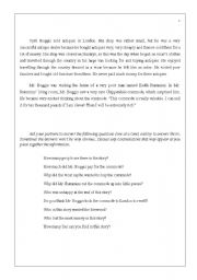 English Worksheet: Parson�s Pleasure Jigsaw Reading