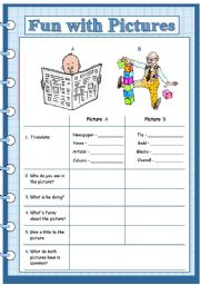English Worksheets: fun with pictures1