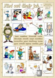 English Worksheet: FIND OUT THEIR JOB...