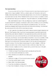 English Worksheet: The Coca-Cola Story