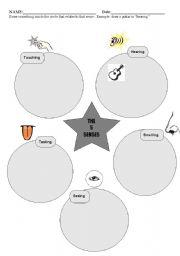 English Worksheets: 5 Senses /  Drawing