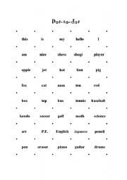 English Worksheet: Dot-to-dot