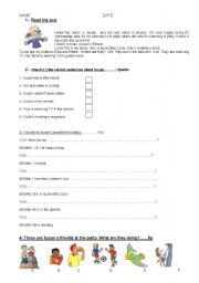 English Worksheets: BACKPACK 1