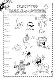 halloween words unjumble unjumble the letters to find the halloween