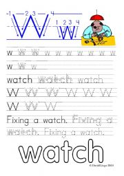 English Worksheets: Worksheets and reuploaded Learning Letters Ww and Xx: 8 worksheets
