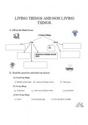 english worksheets living things and non living things. Black Bedroom Furniture Sets. Home Design Ideas