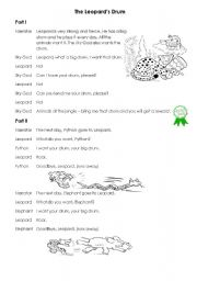 English Worksheets: The Leopard�s Drum