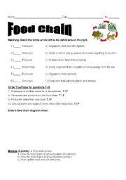 english worksheets food chain assessment. Black Bedroom Furniture Sets. Home Design Ideas