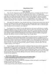 English Worksheets: Panic Disorders