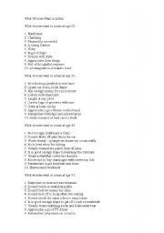 English Worksheets: woman&man