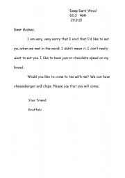 English Worksheets: example of a letter