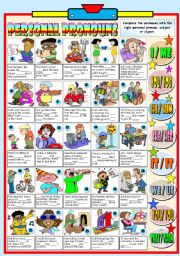English Worksheet: PERSONAL PRONOUNS-SUBJECT AND OBJECT (B&W VERSION+KEY INCLUDED)