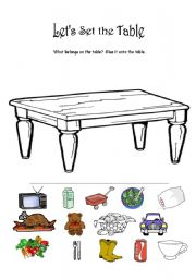 English worksheet Let´s Set the Table  sc 1 st  ESL Printables & English worksheets: Let´s Set the Table
