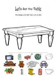 Let´s Set the Table - ESL worksheet by hschneider