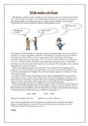 British Weather And Climate Esl Worksheet By Zvonka Rink