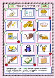 English Worksheet: What would you like for breakfast?