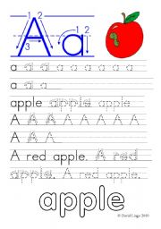 English Worksheet: Letter Formation Worksheets and reuploaded Learning Letters Aa and Bb: 8 worksheets