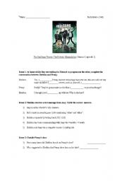 English Worksheet: The Big Bang Theory: Season 4, episode 1: The Robotic Manipulation