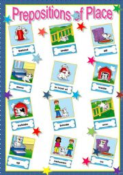 Prepositions of Place - Poster